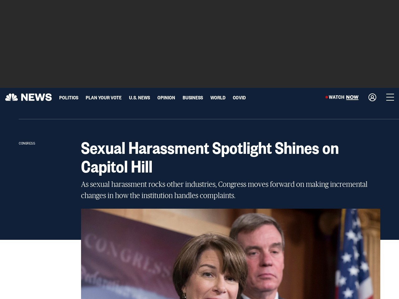 Sexual Harassment Spotlight Shines on Capitol Hill