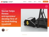 Nectar Product Development helps fitness entrepreneur develop first of its kind-folding treadmill