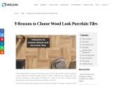 Benefits of Wood Look Porcelain Tiles – Neelson Tiles