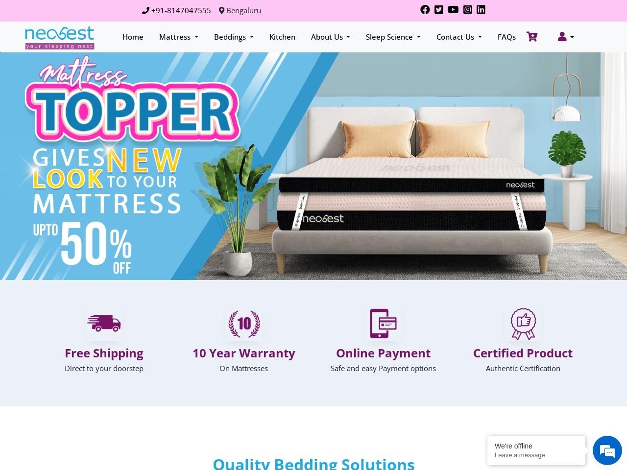 Buy Online Memory Foam Mattress – Neorest
