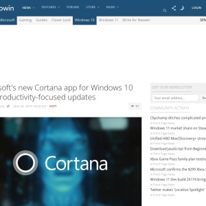 Microsoft's new Cortana app for Windows 10 gets productivity-focused updates - Neowin
