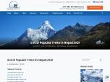 List of Popular Treks in Nepal 2021