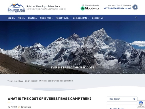 Comprehensive Guide for Everest Base Camp Trek Cost.