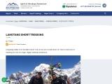 Short Trek is in the Langtang national Park -7 Days