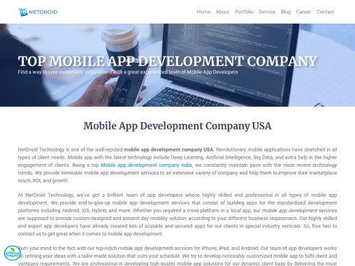 Mobile App Development Company india   Android and iOS App Development – NetDroidtech