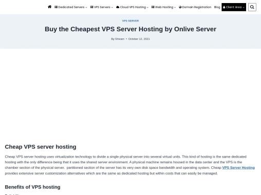 Most Affordable Cheap VPS Server Hosting By Onlive Server