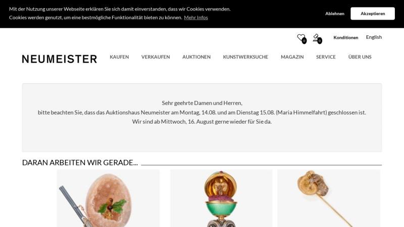 www.neumeister.com Vorschau, Neumeister Münchener Kunstauktionshaus GmbH & Co. KG