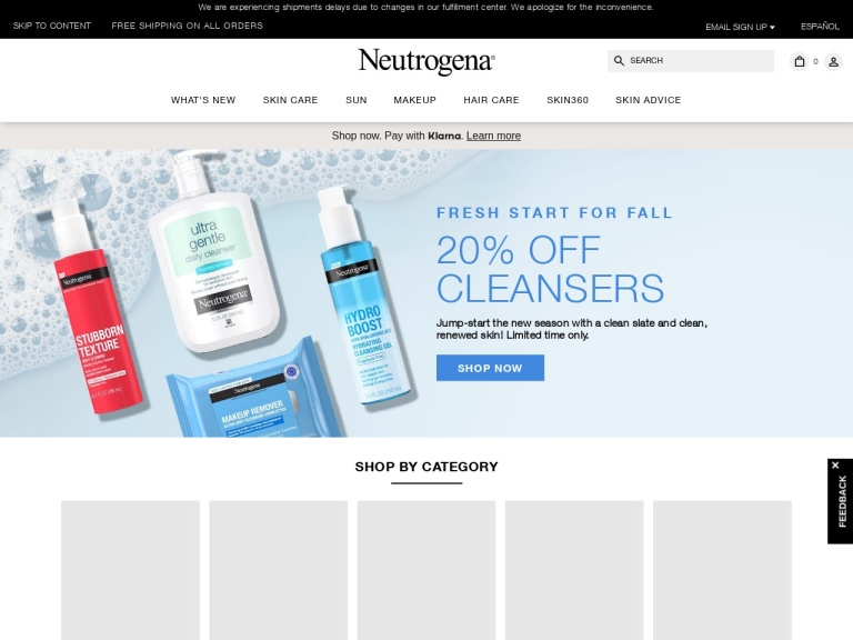 Neutrogena (Global) screenshot