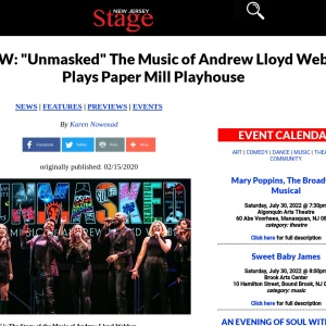 """REVIEW: """"Unmasked"""" The Music of Andrew Lloyd Webber Plays Paper Mill Playhouse"""