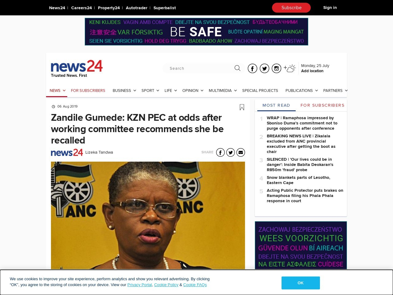 Zandile Gumede: KZN PEC at odds after working committee recommends she…