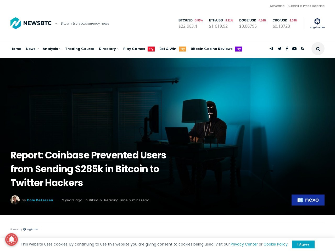 Report: Coinbase Prevented Users from Sending $285k in Bitcoin to Twitter Hackers