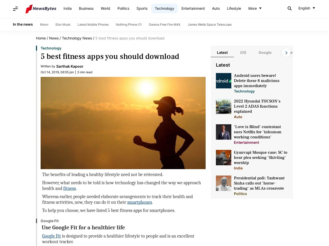 5 best fitness apps you should download