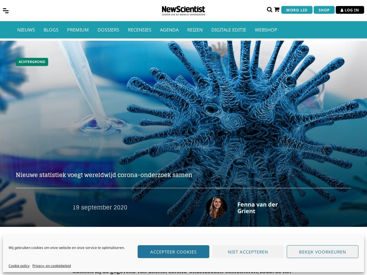 Nieuwe statistiek voegt wereldwijd corona-onderzoek samen - New Scientist