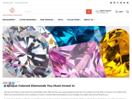 What is 5 Unique Colored Diamonds   New World Diamonds