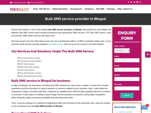 Bulk sms Service Provider in Bhopal | Bulk SMS Services in Bhopal