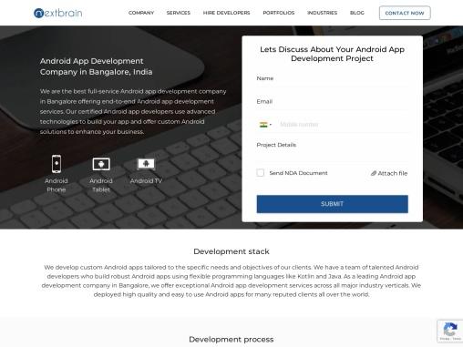 Android App Development Company in Bangalore – Nextbrain