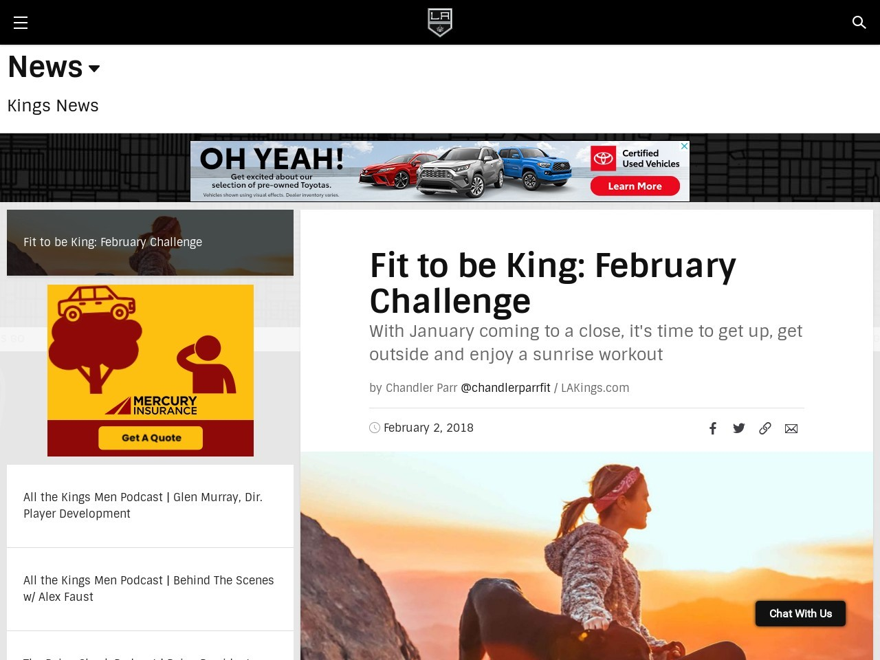 Fit to be King: February Challenge