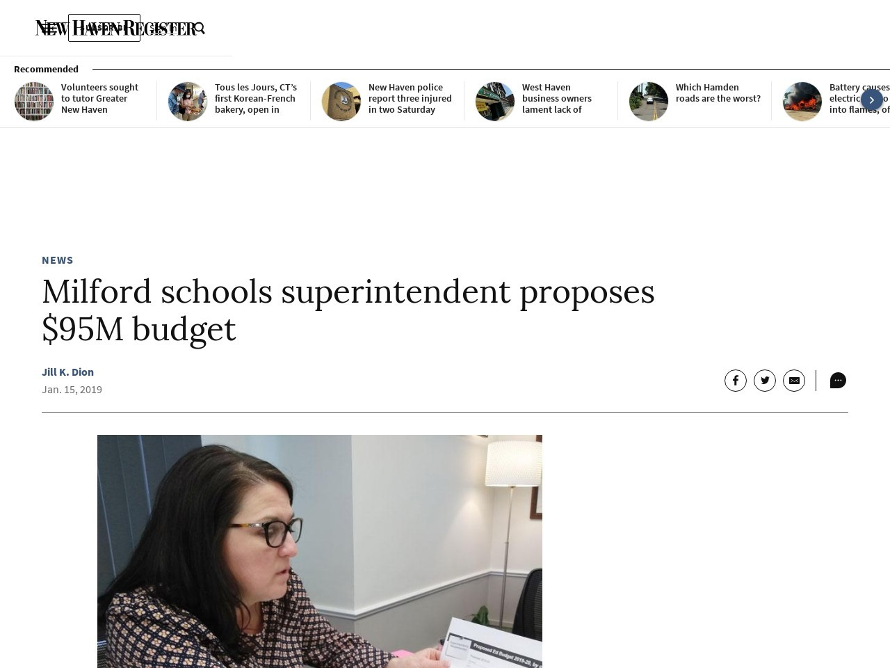 Milford schools superintendent proposes $95M budget