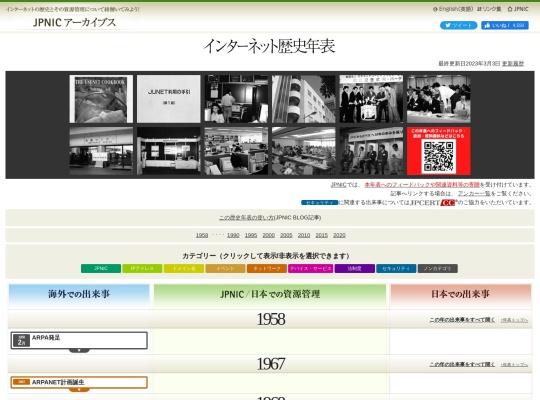インターネット歴史年表 - JPNIC
