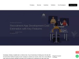 Recruitment App Development Cost Estimation with Key Features