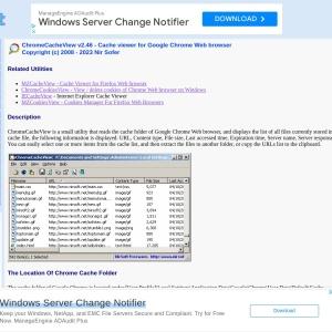 ChromeCacheView - Cache viewer for Google Chrome Web browser