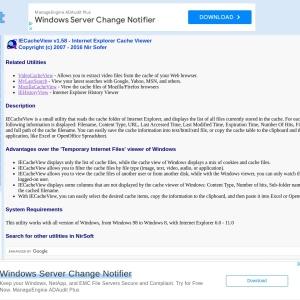 IECacheView - Internet Explorer Cache Viewer