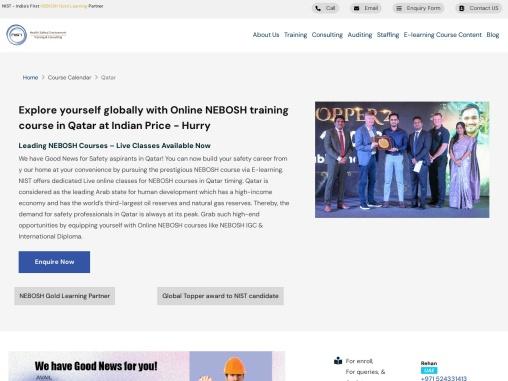 Online NEBOSH training course in Qatar