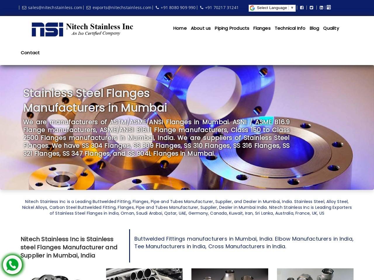 ANSI B16.5 Flange Manufacturer