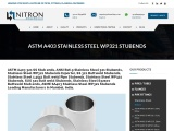 ASTM A403 Stainless Steel WP321 Stubends