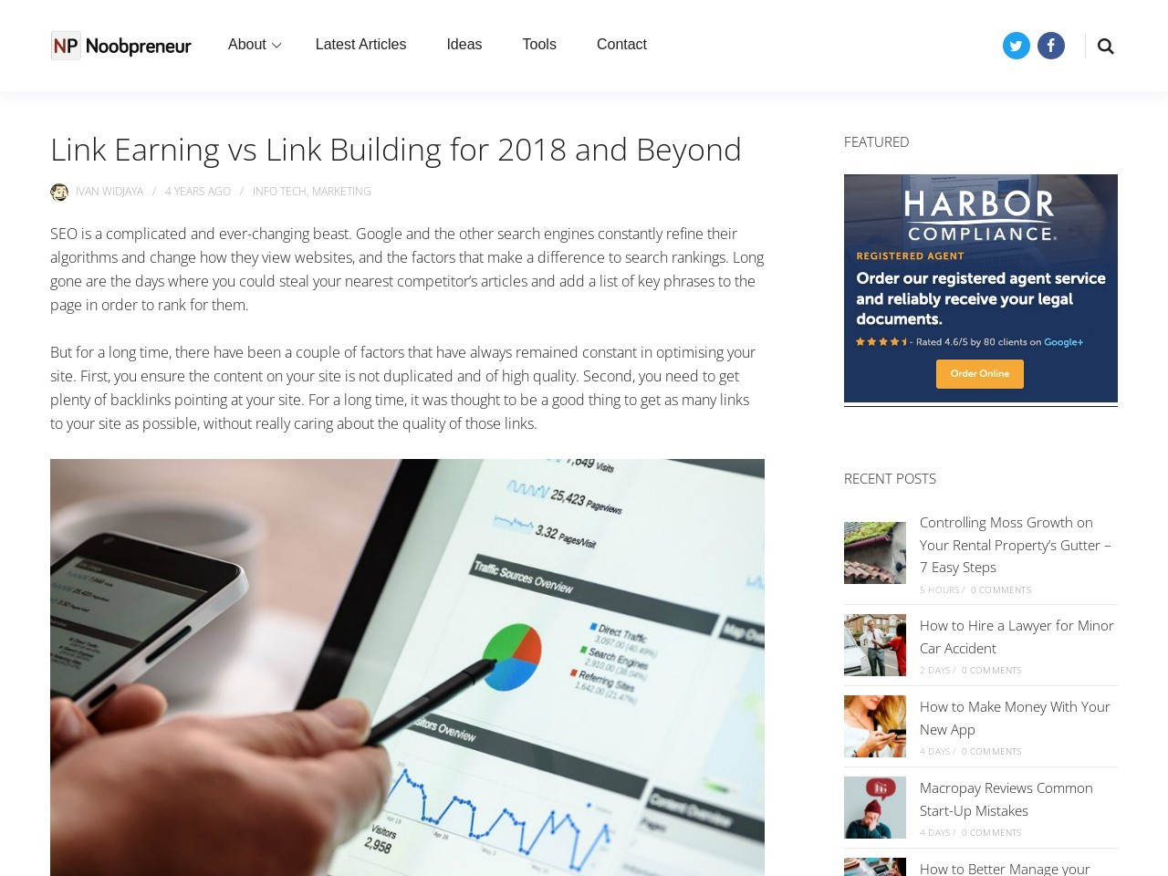 Link Earning vs Link Building for 2018 and Beyond