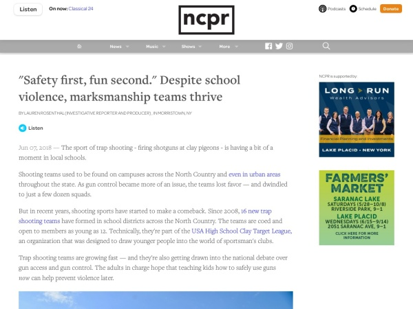 https://www.northcountrypublicradio.org/news/story/36362/20180607/safety-first-fun-second-despite-school-violence-marksmanship-teams-thrive