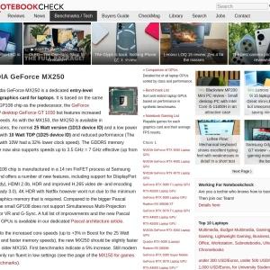 NVIDIA GeForce MX250 Graphics Card - NotebookCheck.net Tech