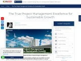 The True Project Management Excellence for Sustainable Growth