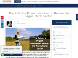 Project Management in Agriculture