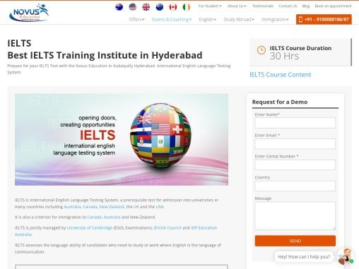 Best IELTS Coaching in Hyderabad at Novus Education