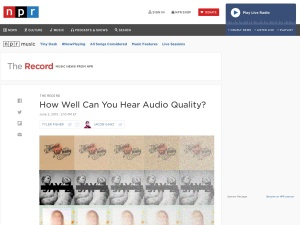 How Well Can You Hear Audio Quality?のスクリーンショット
