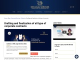 Drafting and finalization of all type of corporate contracts