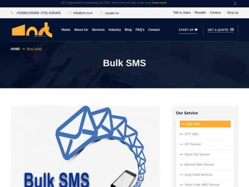 Bulk SMS Service in India | Transactional SMS And Promotional SMS