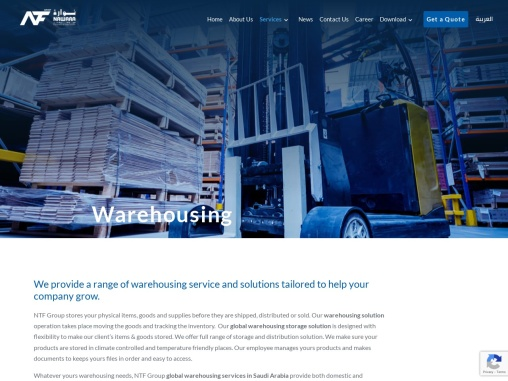 Warehousing Solution and  Storage | NTF Group