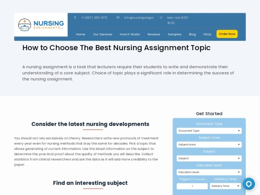 Best Nursing Assignment writing company