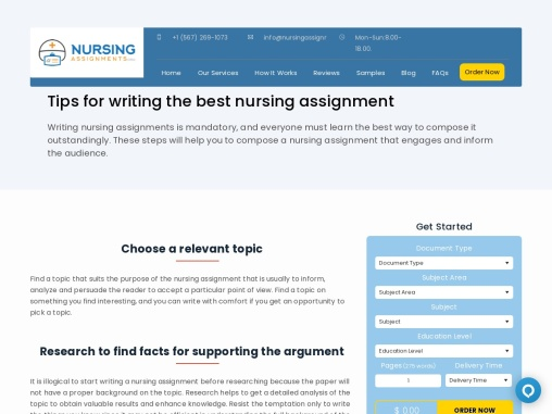 Help Write my Nursing Assignment