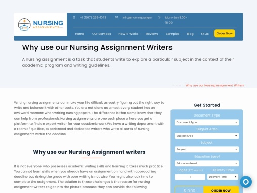 Top rated Nursing Assignment Writing Service
