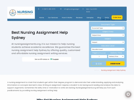 Affordable Nursing Assignment Writing Service