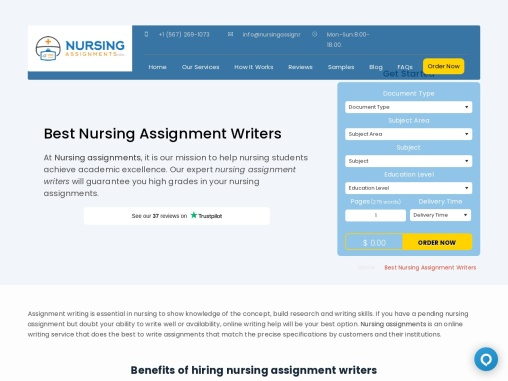 Write my Nursing Assignment online