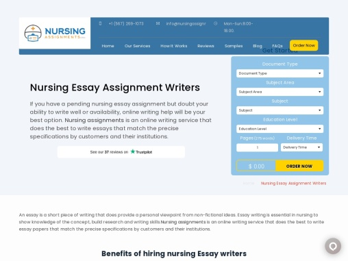 Custom Nursing Assignment Writing Help
