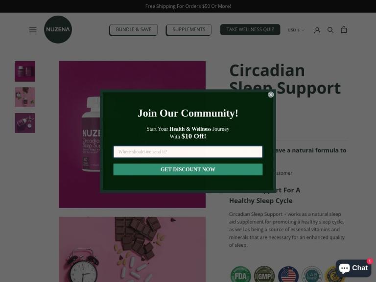 Circadian Sleep Support screenshot