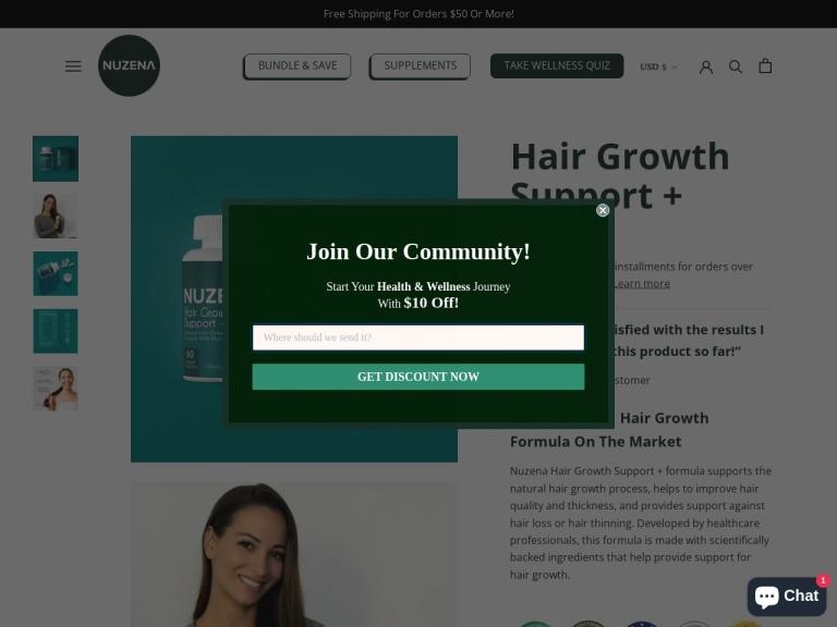 Hair Growth Support screenshot