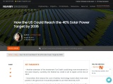 How the US Could Reach the 40% Solar Power Target by 2035