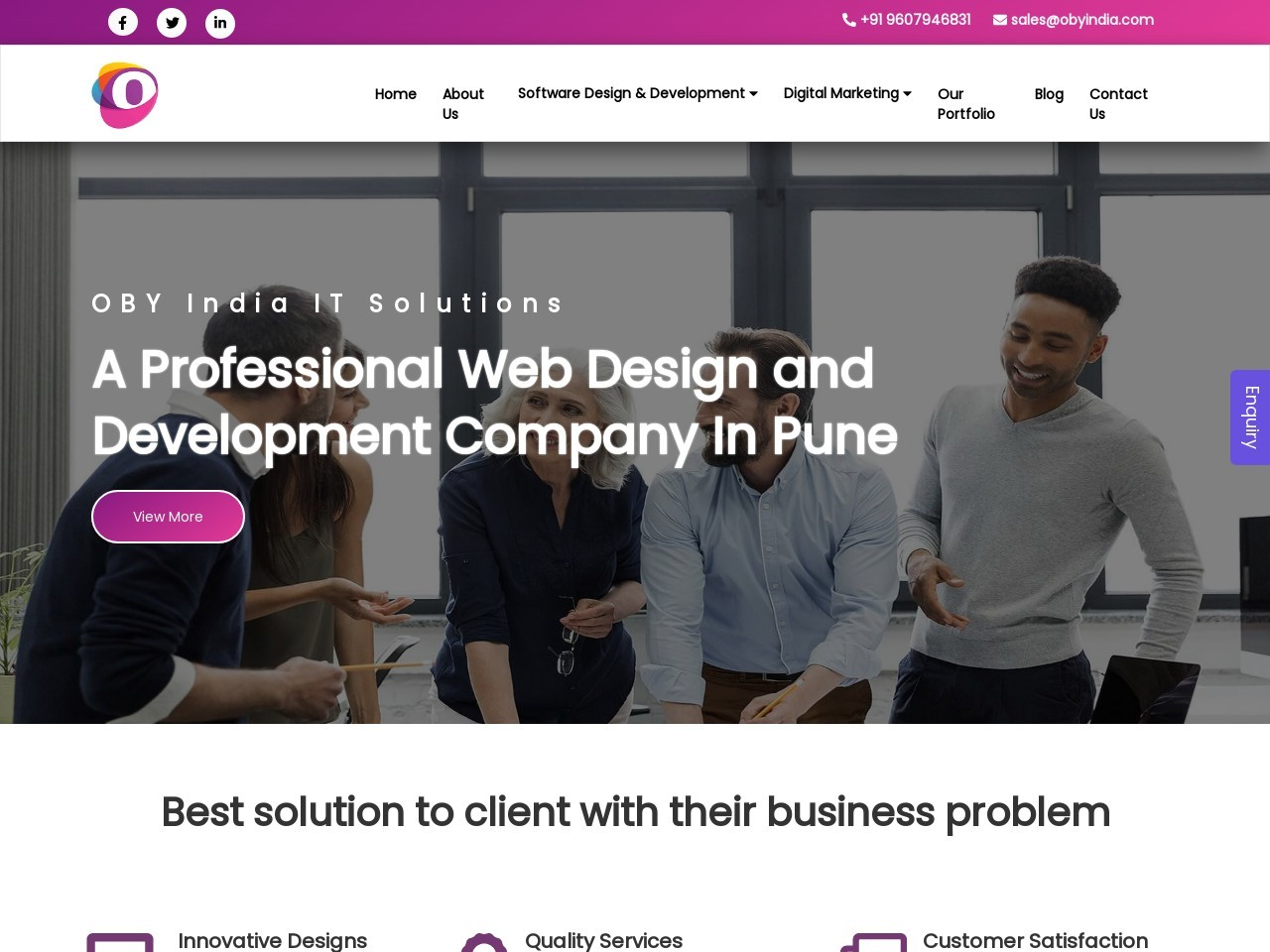 Best Software Development Company in Pune-OBY India It Solution
