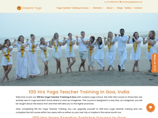100 Hour Yoga Teacher Training in Goa